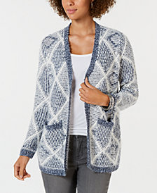 Style & Co Eyelash Pattern Cardigan Sweater, Created for Macy's