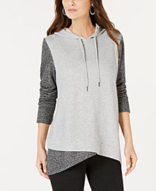 Style & Co Colorblocked Sweatshirt, Created for Macy's