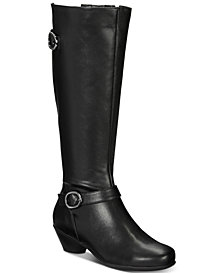 Karen Scott Ulee Wide-Calf Riding Boots, Created For Macy's