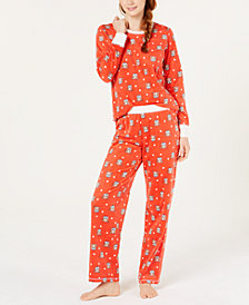 Jenni Printed Top & Pajama Pants Set, Created for Macy's