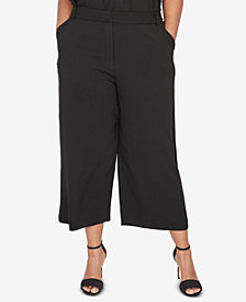 RACHEL Rachel Roy Trendy Plus Size Wide-Leg Pants