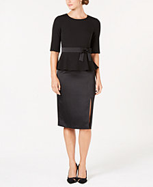 Ivanka Trump Bow-Tie Midi Shift Dress