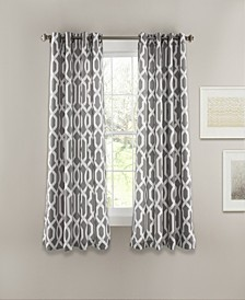 "Edward Trellis Print 52"" x 63"" Curtain Set"
