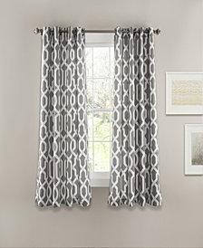 "Edward Trellis 63"" x 52"" Room Darkening Window Curtain Set"