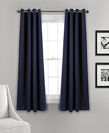 "Lush Décor 63""x52"" Insulated Grommet Blackout Curtain Panels Set"