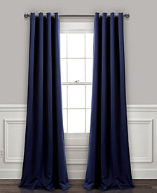"Lush Décor 95""x52"" Insulated Grommet Blackout Curtain Panels Set"