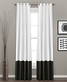 "Prima Colorblock Velvet 54"" x 84"" Curtain Set"
