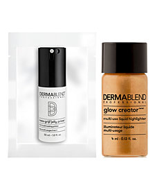 Receive a FREE Glow Creator Mini and Insta-Grip Jelly makeup Primer with $35 Dermablend Purchase!
