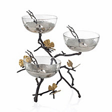 Michael Aram Butterfly Gingko Triple Bowl Set