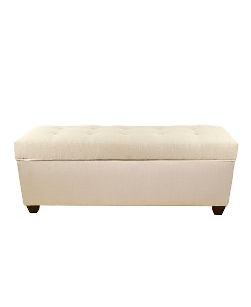 MJL Furniture Designs Sole Secret Button Tufted Small Shoe Storage Bench