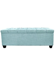 MJL Furniture Designs Sole Secret Diamond Tufted Large Shoe Storage Bench