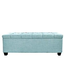 MJL Furniture Designs Sole Secret Diamond Tufted Small Shoe Storage Bench