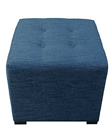 Merton Key Largo 4-button Tufted Square Ottoman
