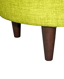 Sophia Bennett Round Upholstered Ottoman