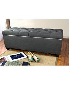 Sole Secret Duo Diamond Tufted Linen & Shoe Storage Bench - LOFT