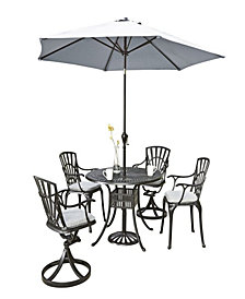 Monarch Rectangular Dining Table and Four Double X-back Chairs