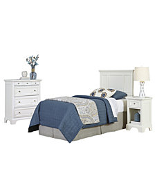 The French Countryside FullorQueen Headboard, Night Stand, and Chest