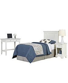 Home Styles Naples Twin Headboard, Night Stand, and Student Desk