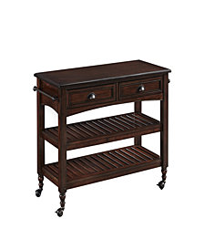 Home Styles Country Comfort Kitchen Cart with Wood Top