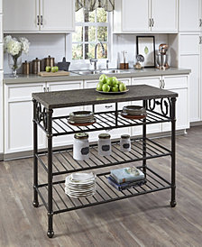 Home Styles Richmond Hill Kitchen Island with Quartz Veneer Top