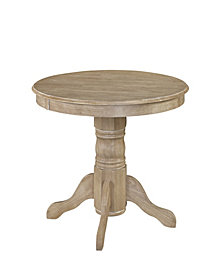Home Styles Classic Round Pedestal Dining Table in White Wash Finish