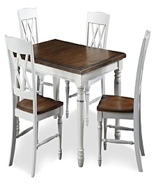 Home Styles Monarch Rectangular Dining Table and Four Double X-back Chairs