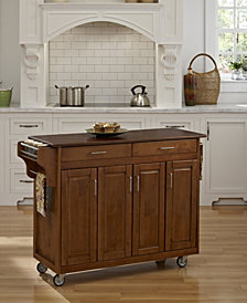 Home Styles Create-a-Cart Warm Oak Finish with Cherry Top