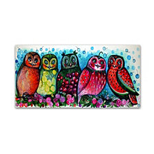 Oxana Ziaka '5 Owls' Canvas Art Collection