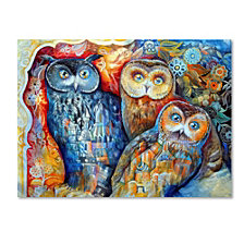 Oxana Ziaka 'Owls' Canvas Art Print Collection