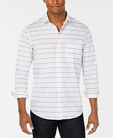 Club Room Men's Horizontal Stripe Shirt, Created for Macy's