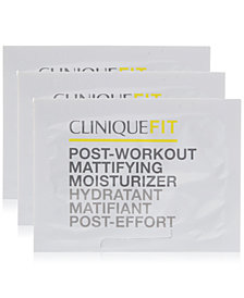 Try a FREE 3 day supply of CliniqueFIT Post Workout Matte Moisturizer with $50 Active + Active Plus purchase!