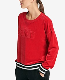 Sport Velour Embossed-Logo Top