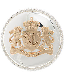Lauren Ralph Lauren Two-Tone Dome Crest Pin