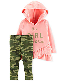 Carter's Baby Girls 2-Pc. Future Hoodie & Camo-Print Leggings Set