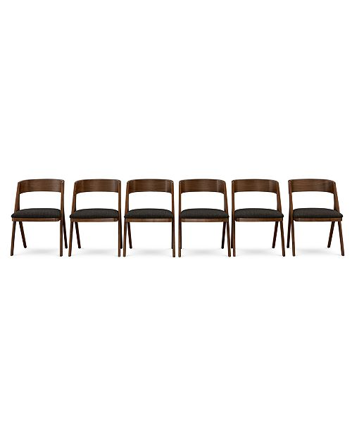 Furniture Oslo Dining Chair, 6-Pc. Set (Set of 6 Chairs), Created for Macy's