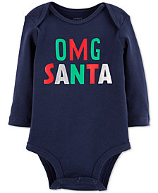 Carter's Baby Boys & Girls OMG Santa Cotton Bodysuit