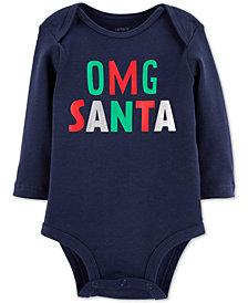 Carter's Baby Boys & Girls OMG Santa Cotton Bodysuit