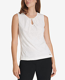 Calvin Klein Embellished Lace Top
