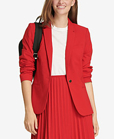 Calvin Klein One-Button Notch-Collar Jacket