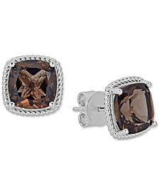 Quartz Rope Frame Stud Earrings (8 ct. t.w.) in Sterling Silver