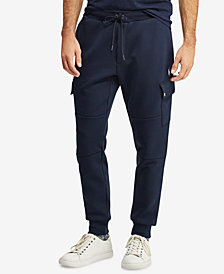 """Polo Ralph Lauren Men's Double-Knit 27.25"""" Cargo Jogger Pants, Created for Macy's"""