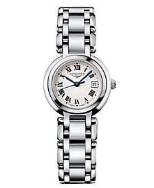 Longines Women's Swiss PrimaLuna Stainless Steel Bracelet Watch L81104716