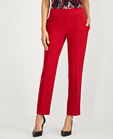 Kasper Petite Stretch Crepe Slim Pants