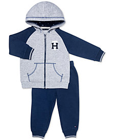 Tommy Hilfiger Baby Girls 2-Pc. Fleece Hoodie & Jogger Pants Set
