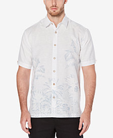 Cubavera Men's Engineered Palm Tree Printed Linen Blend Shirt