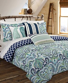 Painterly Paisley Blue Full/Queen Duvet Set