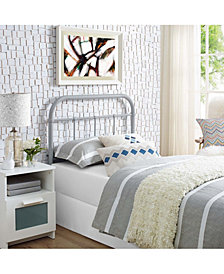 Serena Twin Steel Headboard in White