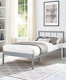 Gwen Twin Bed Frame in White