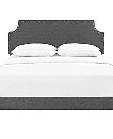 Corene Full Fabric Platform Bed with Round Splayed Legs