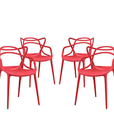 Modway Entangled Dining Set Set of 4